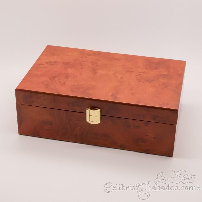 Caja de madera modelo ra z para regalos ex libris y grabados - Cajas de madera para regalo ...